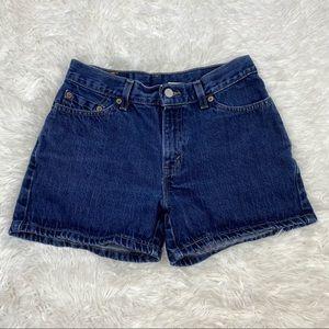 Vintage Levi's Dark Wash Shorts Size 6P A70
